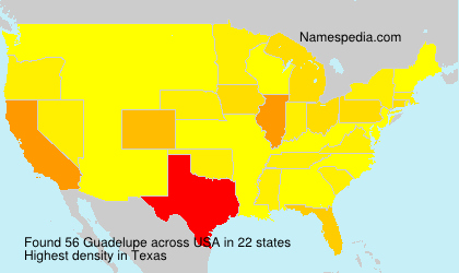 Surname Guadelupe in USA