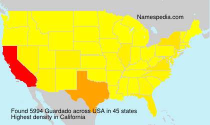 Surname Guardado in USA