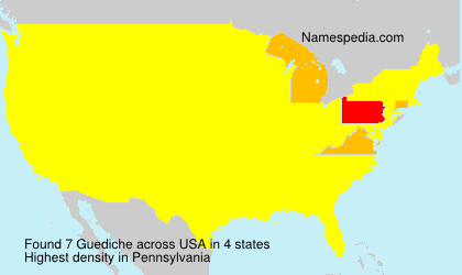 Surname Guediche in USA