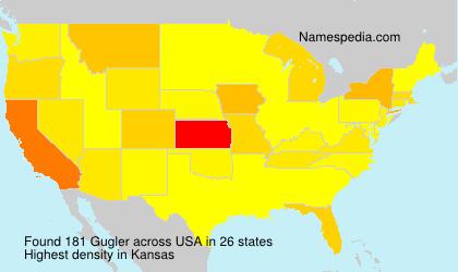 Surname Gugler in USA