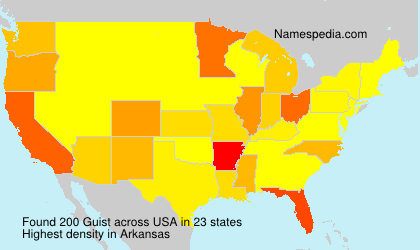 Surname Guist in USA