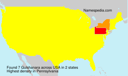 Surname Gulshanara in USA