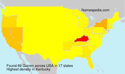 Surname Gurren in USA