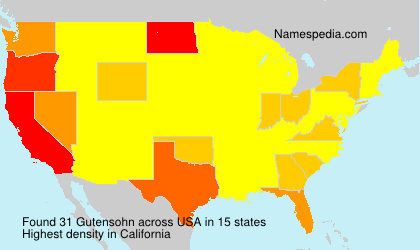 Surname Gutensohn in USA