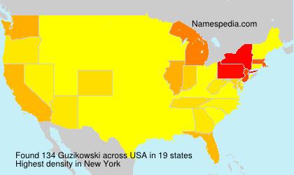 Surname Guzikowski in USA