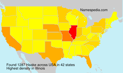 Surname Haake in USA