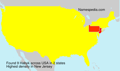 Surname Habyk in USA