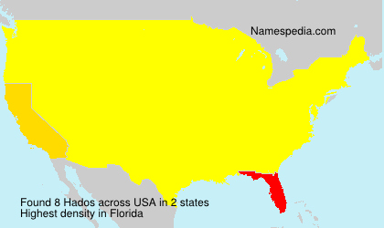 Surname Hados in USA
