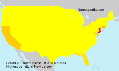 Surname Haferl in USA