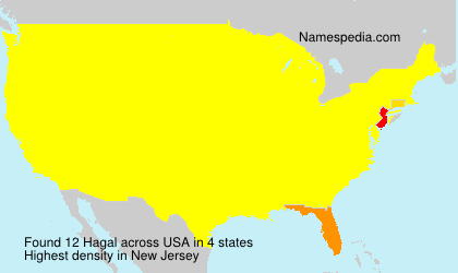 Surname Hagal in USA