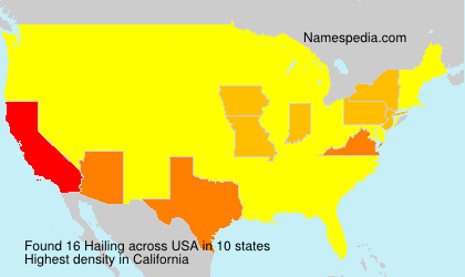 Surname Hailing in USA