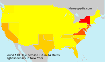 Surname Haje in USA
