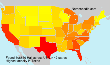 Surname Hall in USA