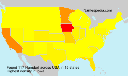 Surname Hamdorf in USA