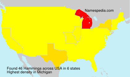 Surname Hamminga in USA
