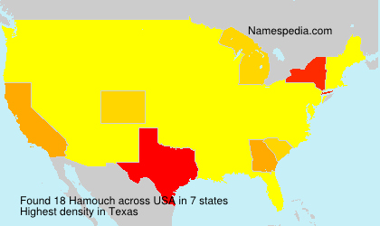 Surname Hamouch in USA