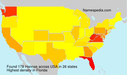 Surname Hannas in USA