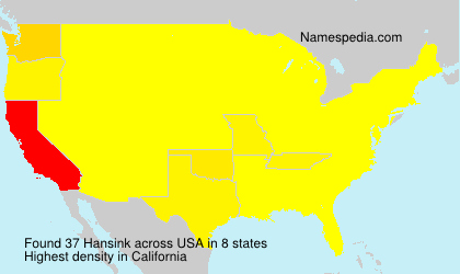 Surname Hansink in USA