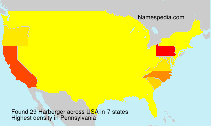 Surname Harberger in USA