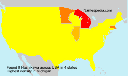 Surname Hashikawa in USA