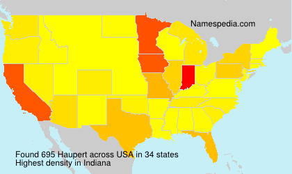 Surname Haupert in USA