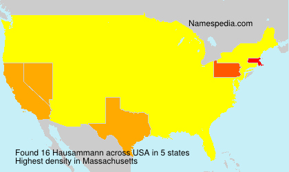 Surname Hausammann in USA