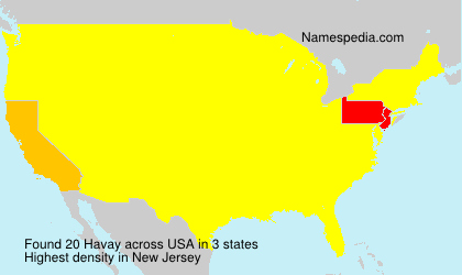 Surname Havay in USA