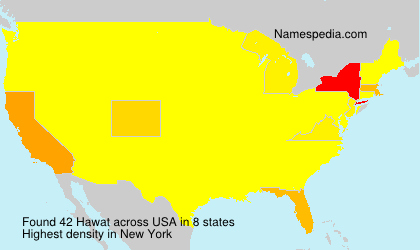 Surname Hawat in USA