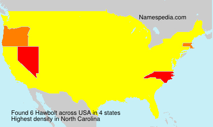 Surname Hawbolt in USA