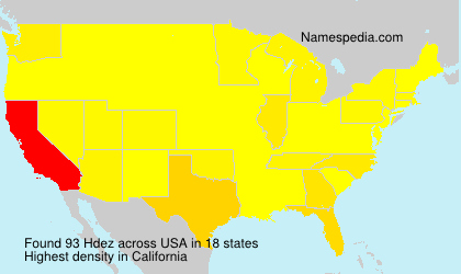 Surname Hdez in USA