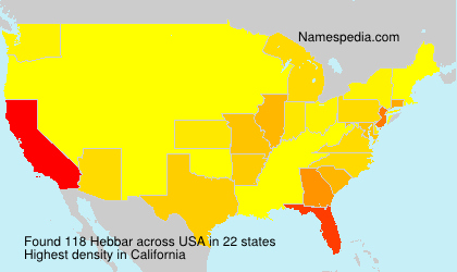 Surname Hebbar in USA