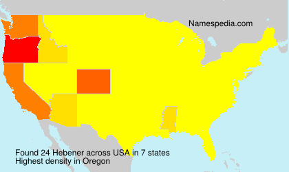 Surname Hebener in USA