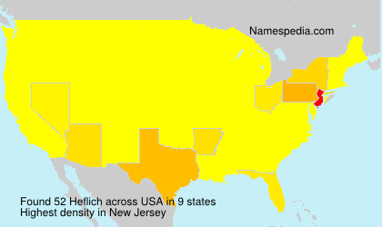 Surname Heflich in USA