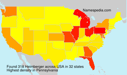 Surname Heimberger in USA