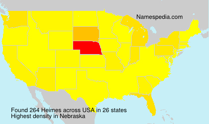 Surname Heimes in USA