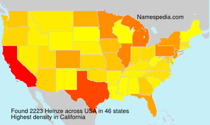 Surname Heinze in USA
