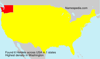 Surname Heldele in USA