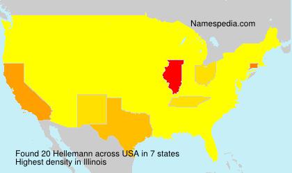 Familiennamen Hellemann - USA