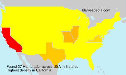 Surname Hembrador in USA