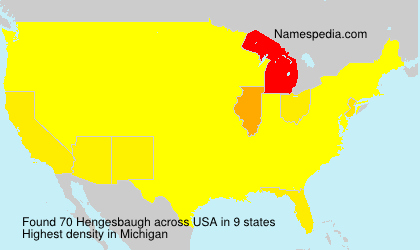Familiennamen Hengesbaugh - USA