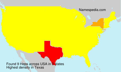 Surname Heps in USA