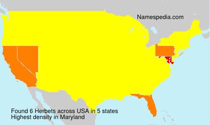 Familiennamen Herbets - USA