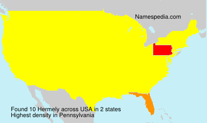Surname Hermely in USA