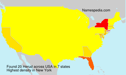 Surname Herud in USA