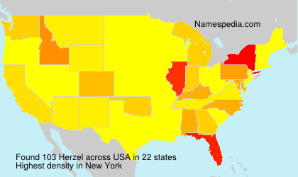 Surname Herzel in USA