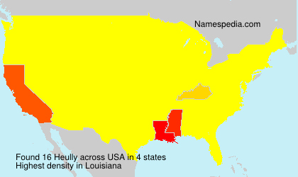 Surname Heully in USA
