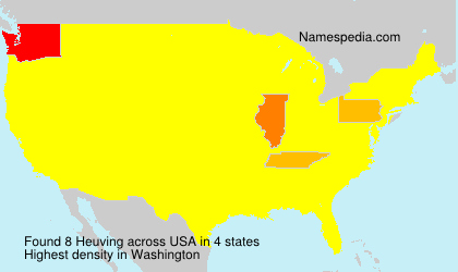 Surname Heuving in USA
