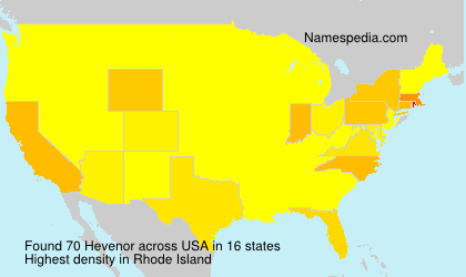 Surname Hevenor in USA