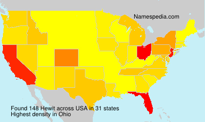 Surname Hewit in USA