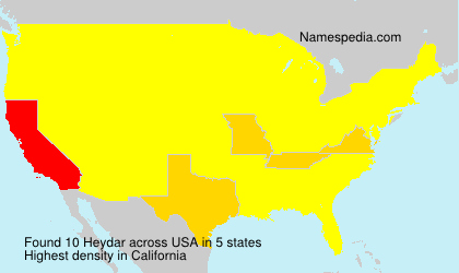 Surname Heydar in USA
